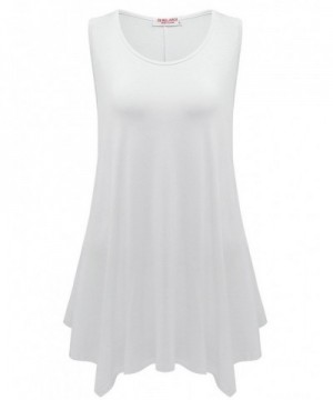 BELAROI Womens Sleeveless 1X White