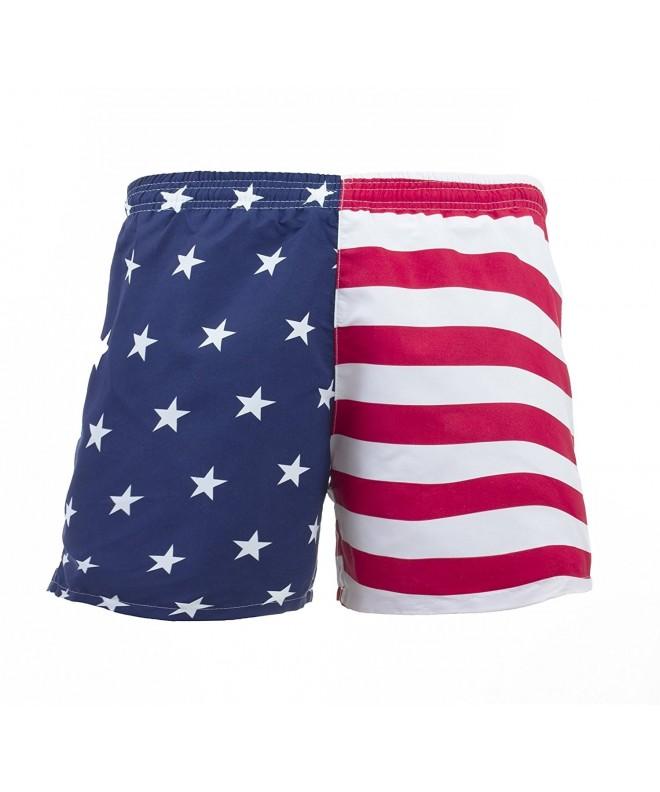 VbrandeD Mens American Flag Trunks