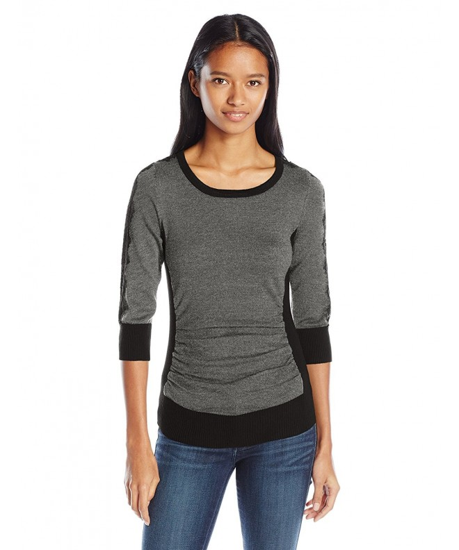 Byer Juniors Sleeve Sweater Charcoal