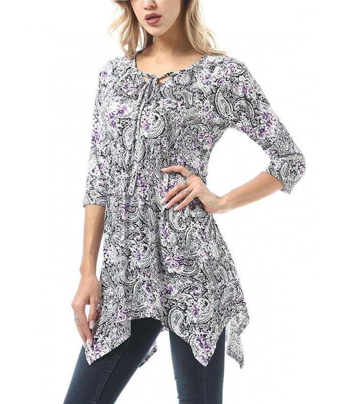 FISOUL Womens Floral Flared Irregular