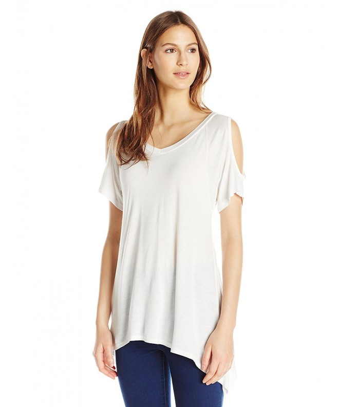 Paper Tee Womens V Neck Shoulder