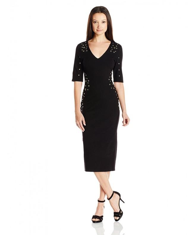 XOXO Womens Grommet Dress Medium