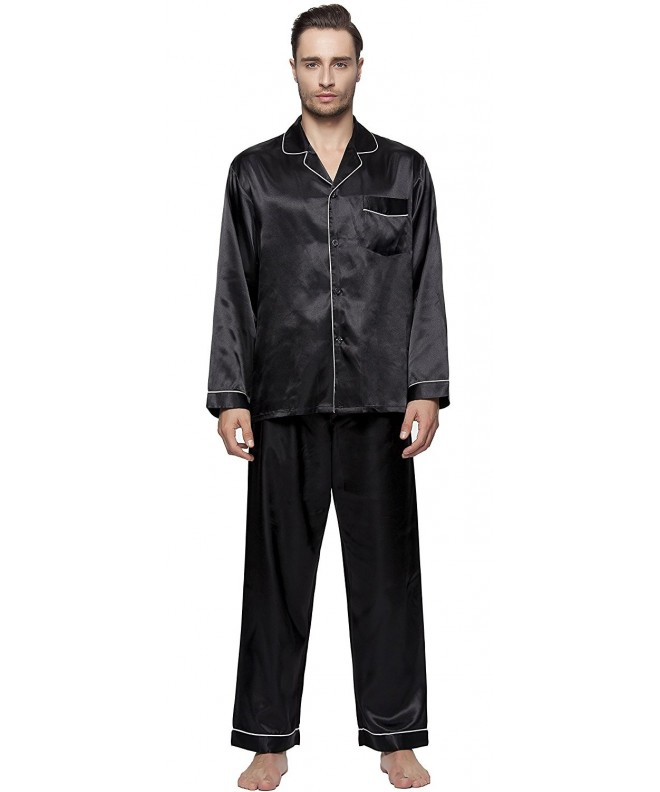 SunRise Mens Classic Satin Pajama