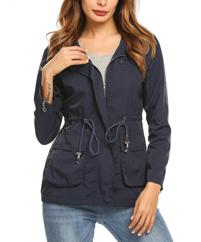 Unibelle Military Button Trench Hooded