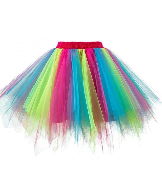 Dressever Vintage Petticoat Rainbow X Large