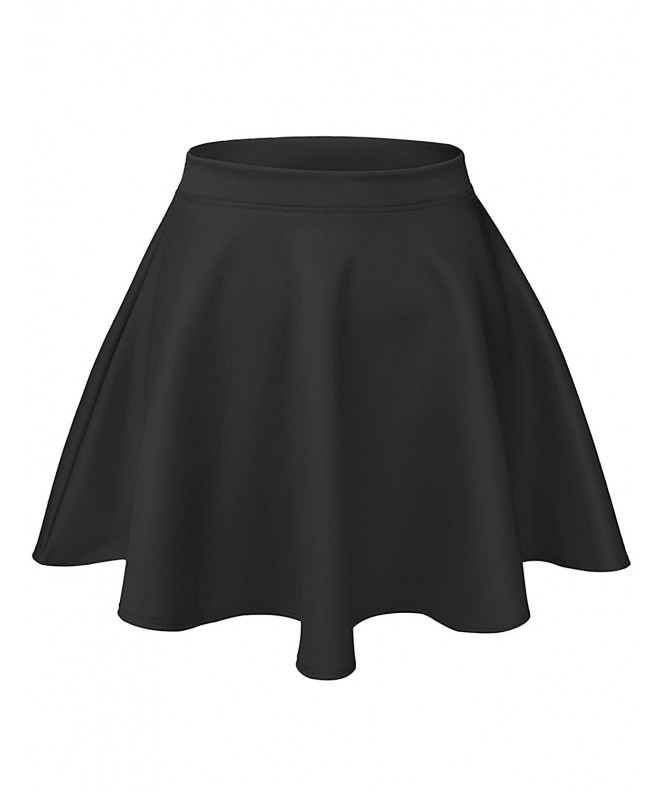 Basic Versatile Stretchy Skater Skirts