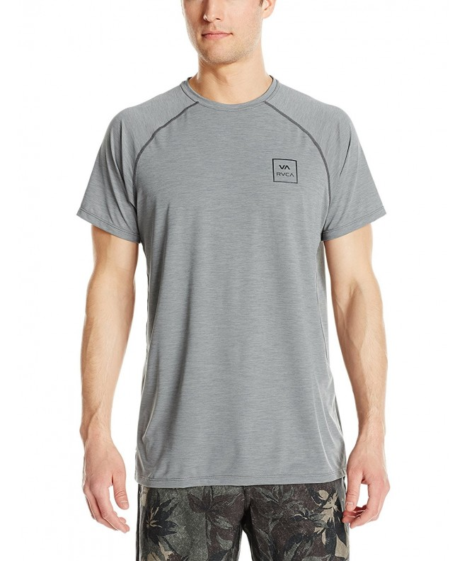 RVCA Mens Rashguard Heather X Large