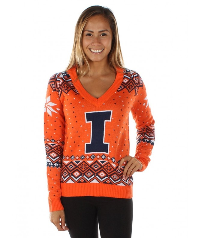 Womens University Illinois Sweater XX Large