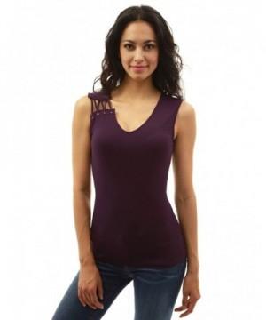 PattyBoutik Womens Shoulder Sleeveless Blouse