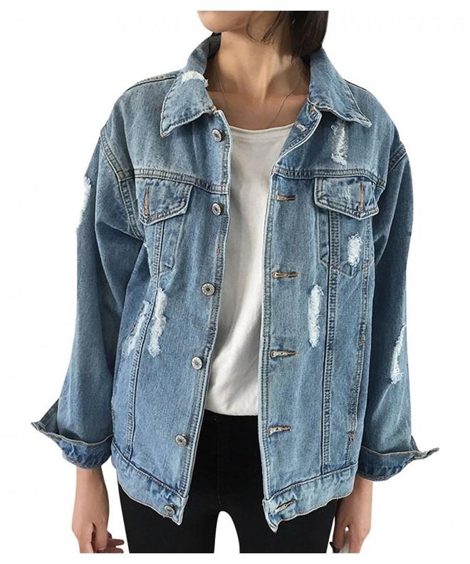 JudyBridal Oversize Jacket Ripped Boyfriend