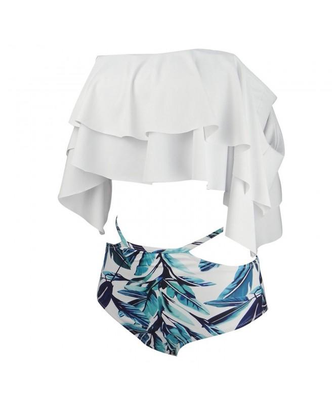 GIRL SEA Shoulder Flounce Swimsuit