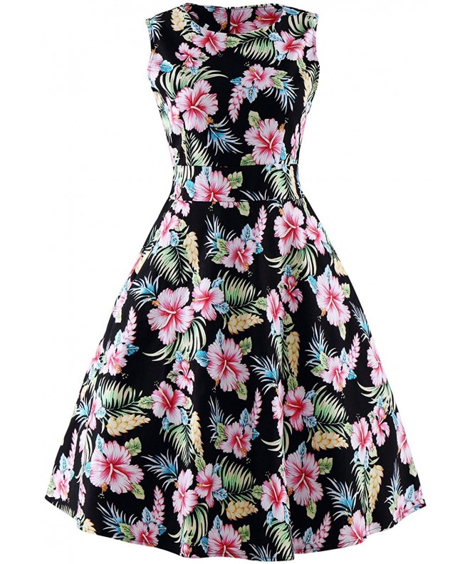 Sleeveless Vintage Rockabilly Hawaiian Dress