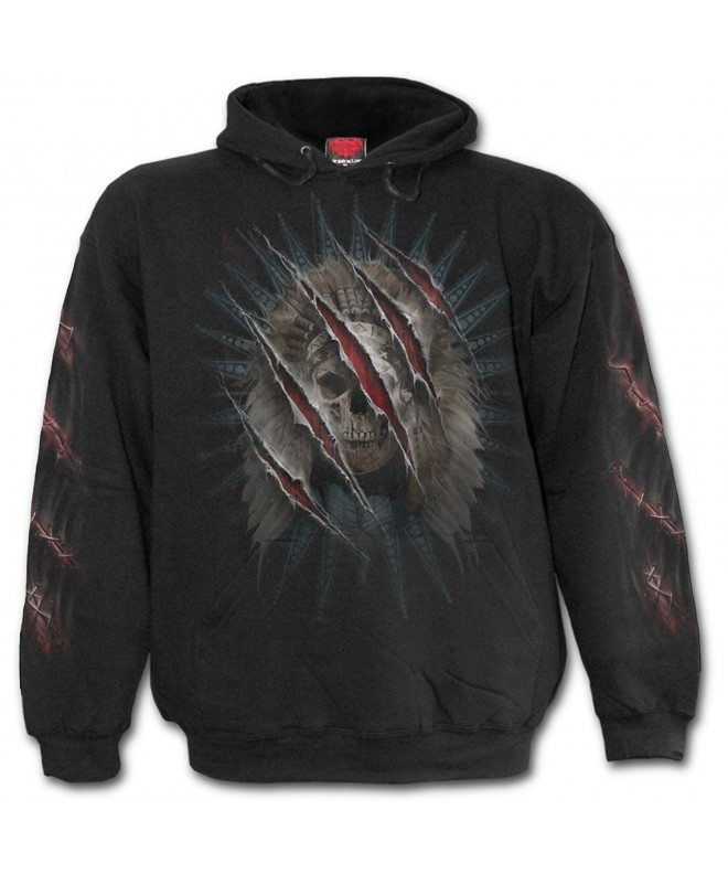 Spiral Mens Claws Hoody Black