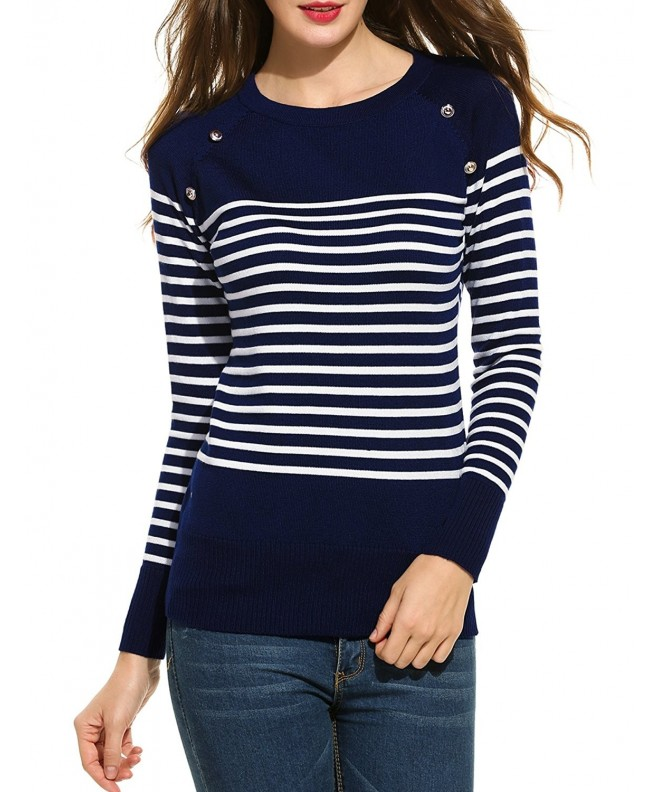ANGVNS Womens Casual Sleeve Sweater