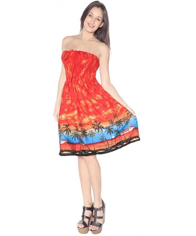 Leela Short wearPrint Halter Orange