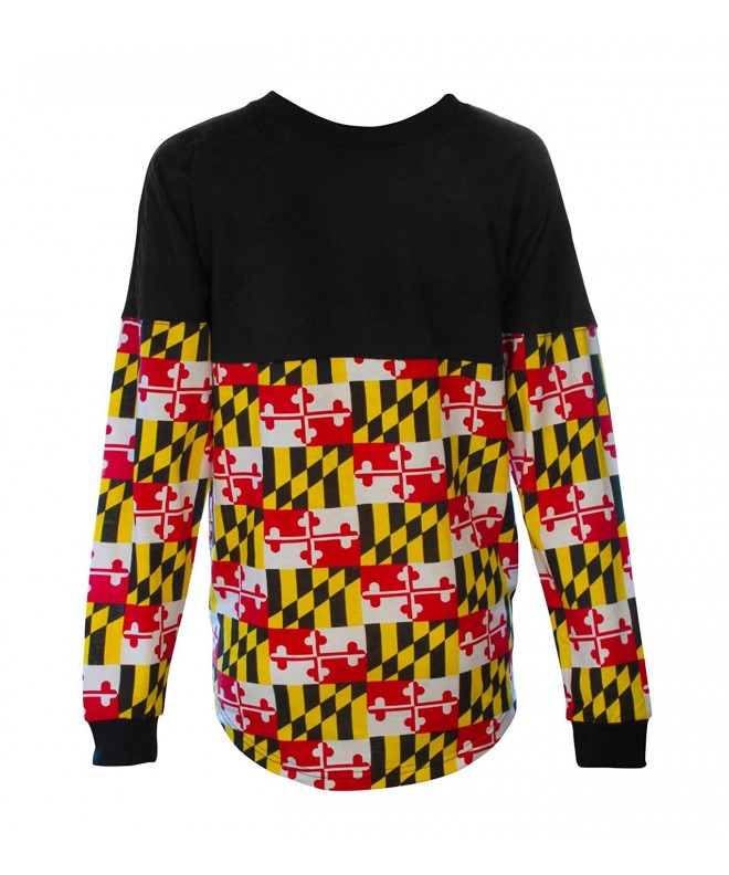 Womens Adults Varsity Maryland Sleeve