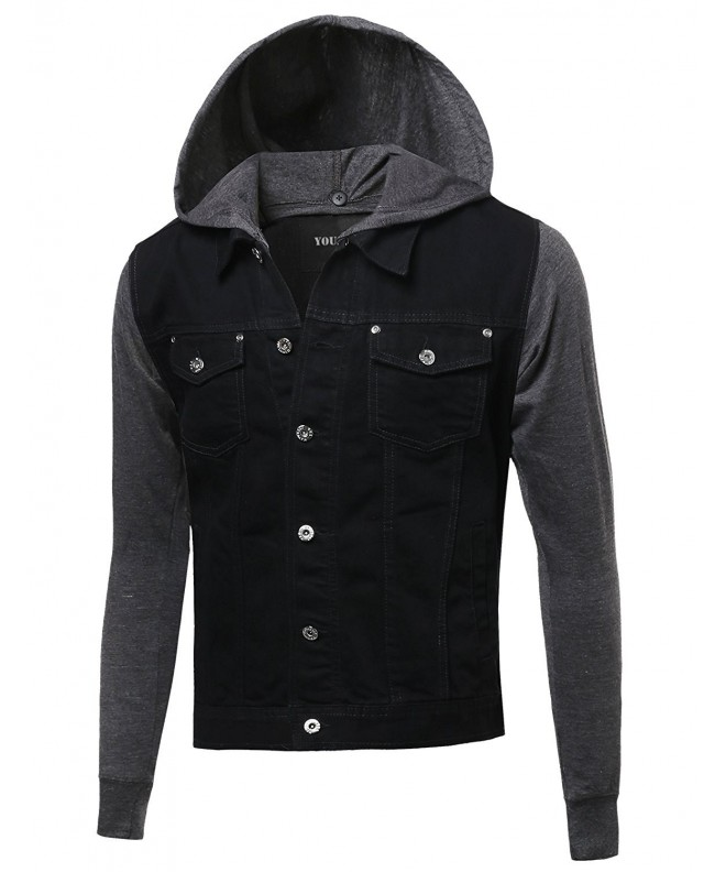 Youstar Washed Contrast Detachable Hoodie