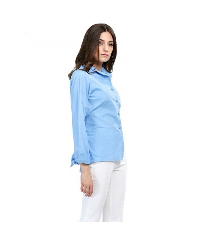 AOMEI Sleeve Blouse Collared Shirts