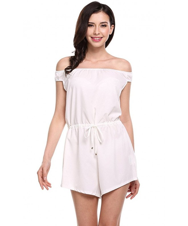 POGTMM Shoulder Drawstring Jumpsuit Playsuit