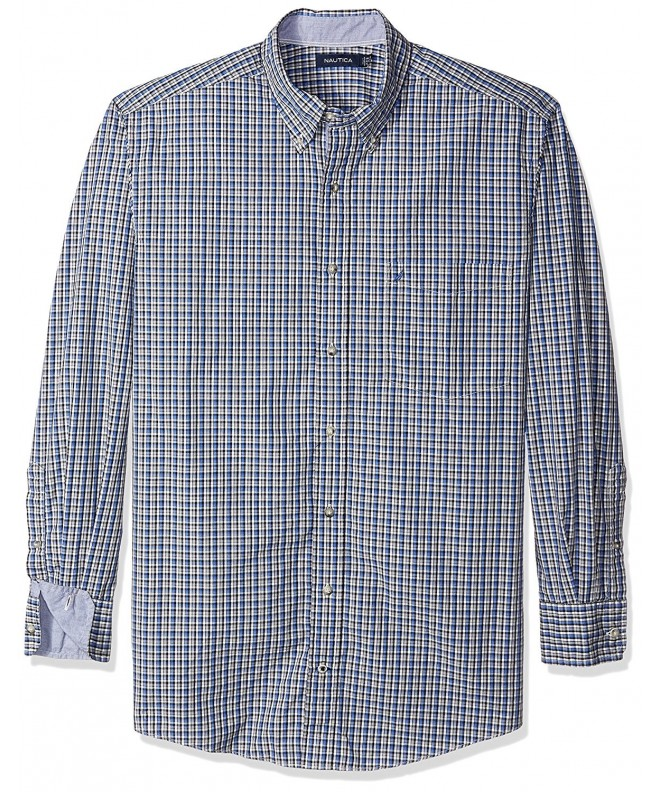 Nautica Sleeve Check Button French