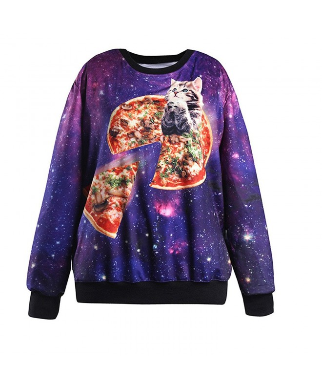 HEYFAIR Womens Galaxy Pullover Sweatshirt