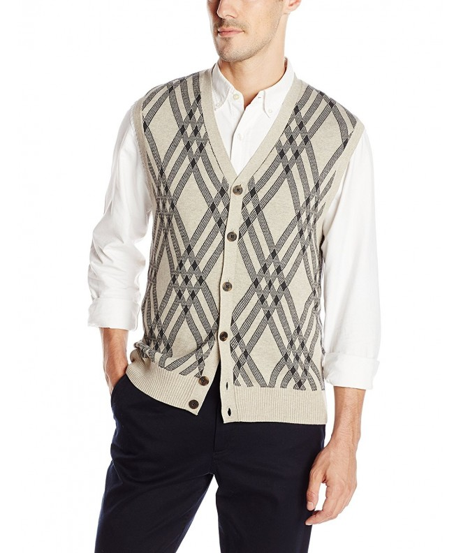 Haggar Exploded Argyle Sweater X Large