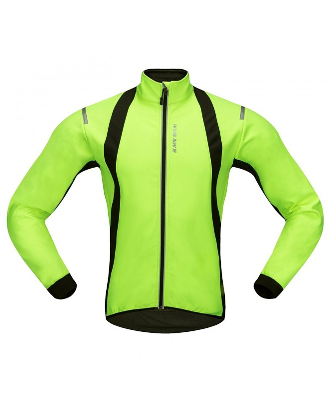WOSAWE Fleece Reflective Windbreaker Cycling