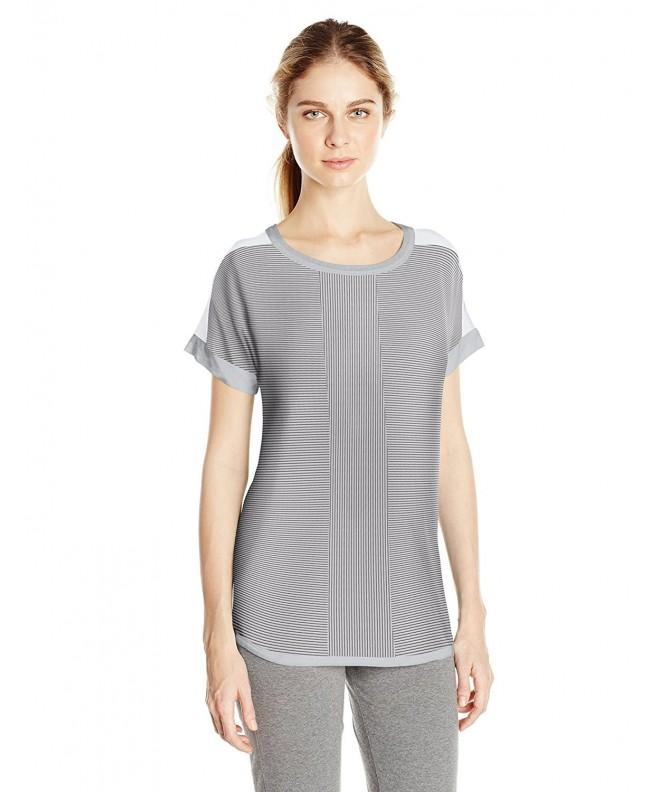 DKNY Womens Short Sleeve Stripe