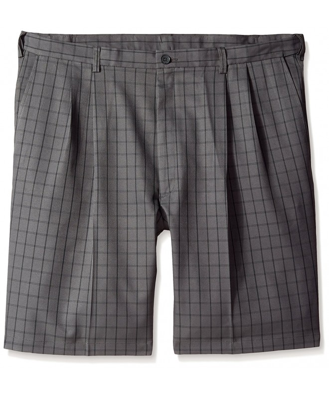 Haggar Big Tall Graphic Windowpane Charcoal