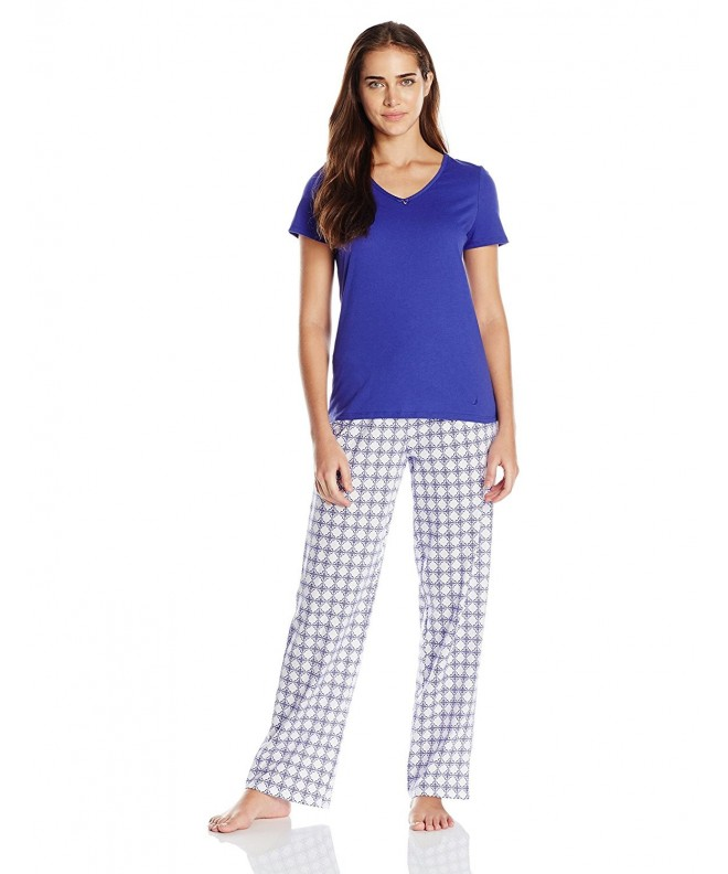 Nautica Womens Pajama Royal Medium