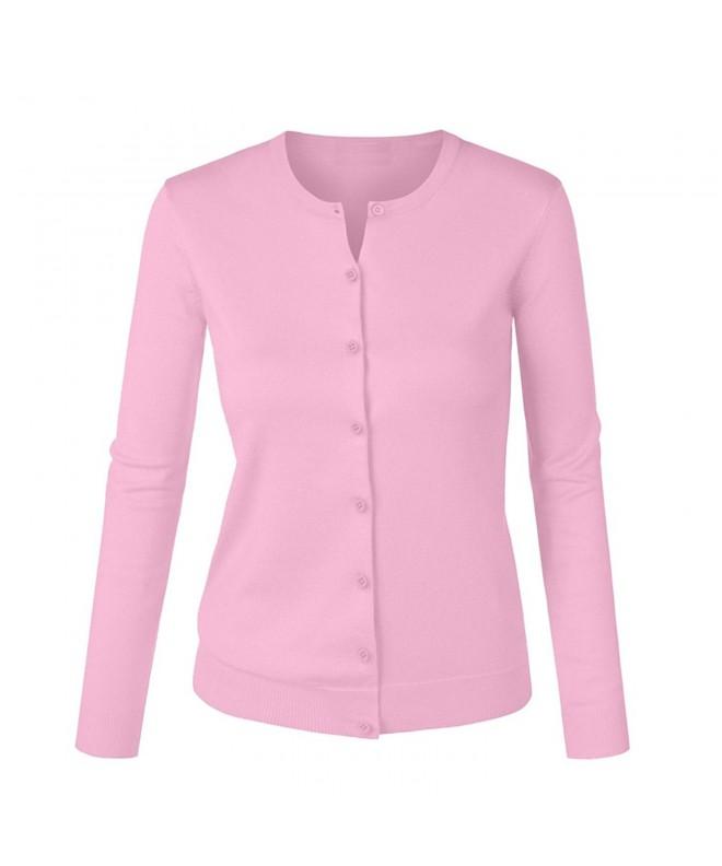 Womens Button Sleeve Cardigan Sweater