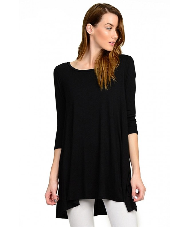 SLEEVES RAYON JERSEY LINE TUNIC