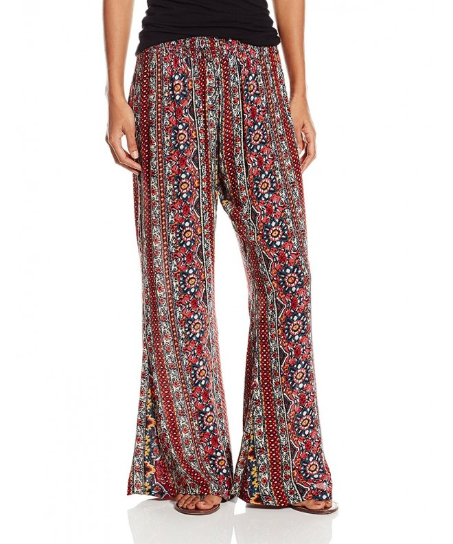 Angie Womens Flare Pants Multi