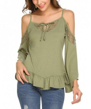 ELESOL Womens Hollow Shoulder Sleeve