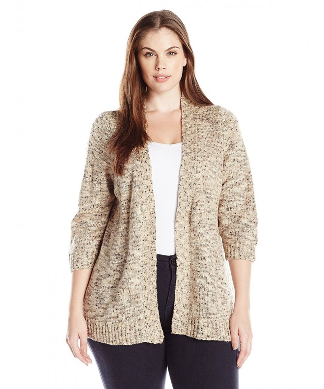 Notations Womens Petite Sweater Cardigan