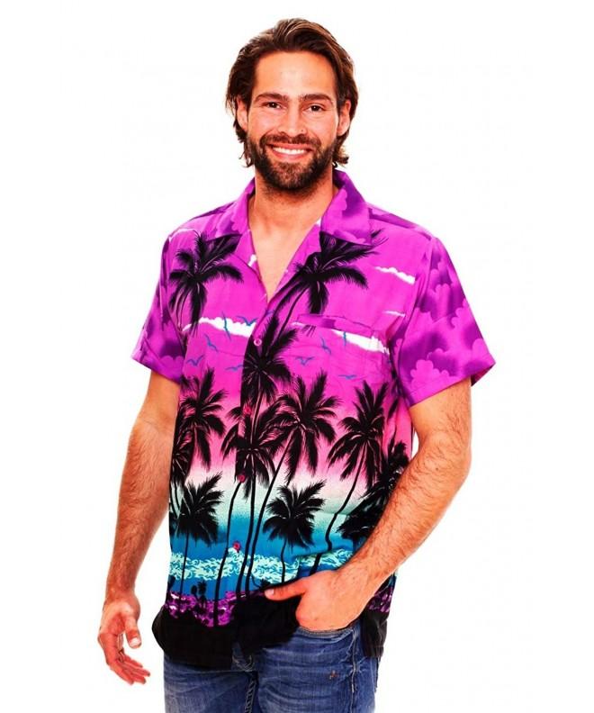 Funky Hawaiian Shirt Beach purple