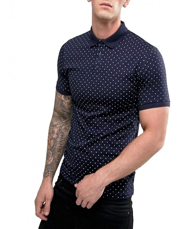 COOFANDY Polka Sleeve Cotton Casual