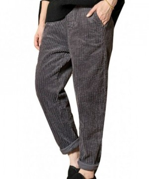 Soojun Womens Fashion Corduroy Darkgrey