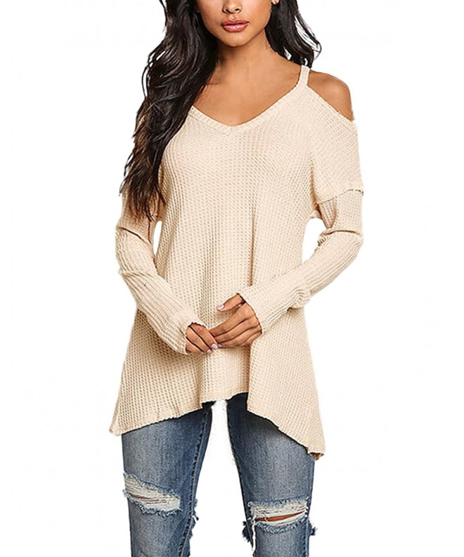 StyleDome Womens Blouse Shoulder Sleeves