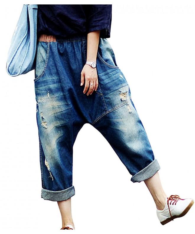 Aeneontrue Womens Casual Trousers Blue