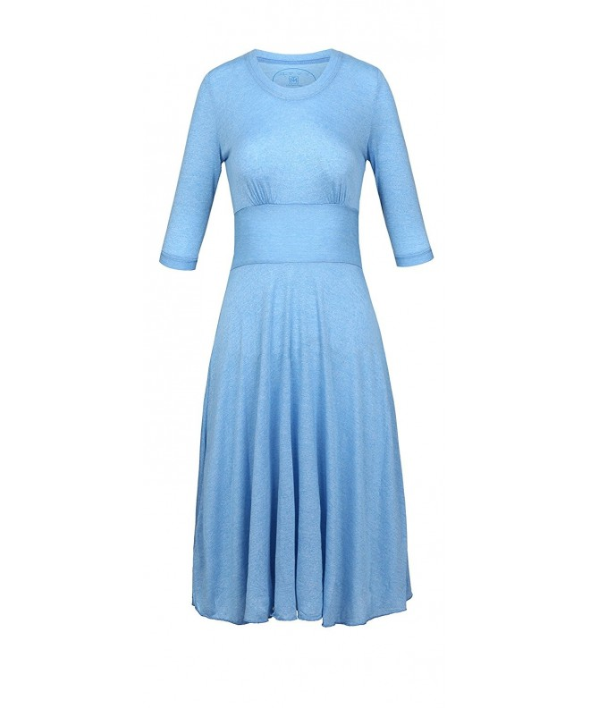 Modern tee Womens Dresses Middle Lt Blue