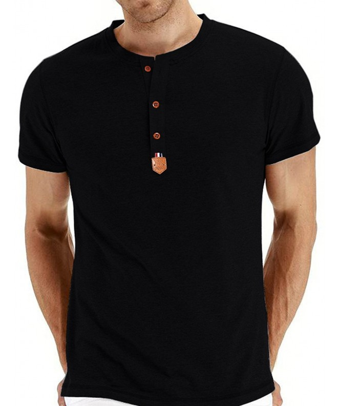 Classic Button Placket Sleeve T Shirts