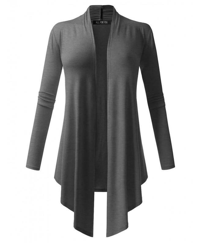 Womens Cardigan Sleeve Charcoal Medium