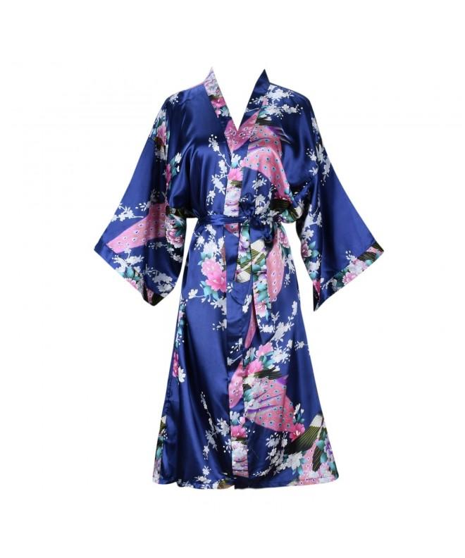 ellenwell Womens Peacock Blossoms Nightwear