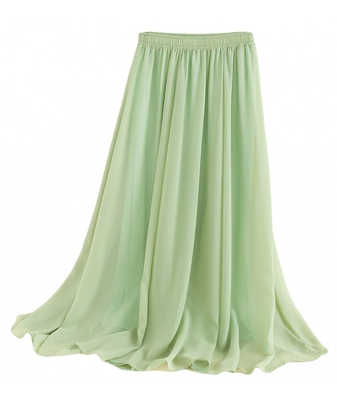 Beauty Women Stretched Chiffon Skirts