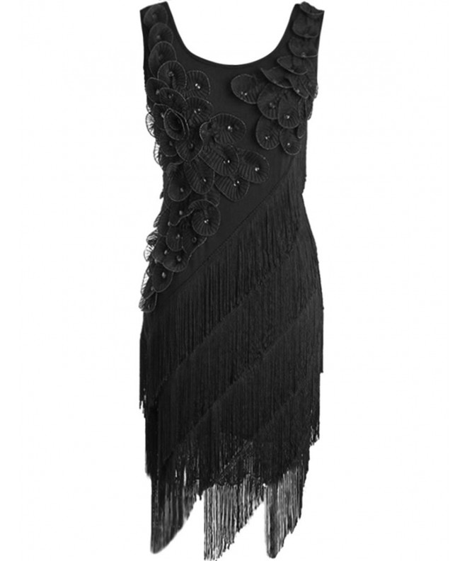 KAYAMIYA Womens Beaded Fringe Flapper