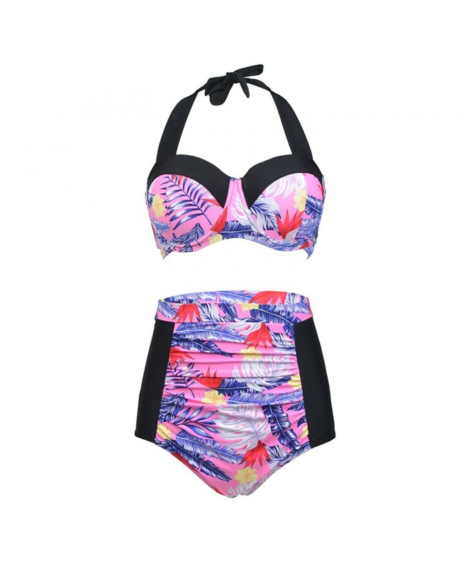 Dreaweet Womens Vintage Patchwork Swimsuit