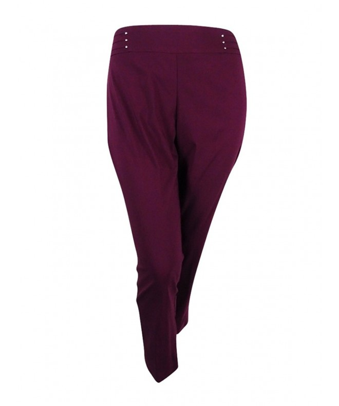 JM Collection Control Slim Leg Maroon