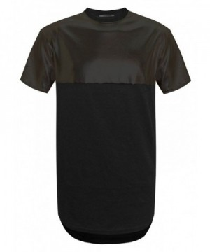 Swag Point Leather Longline T Shirts
