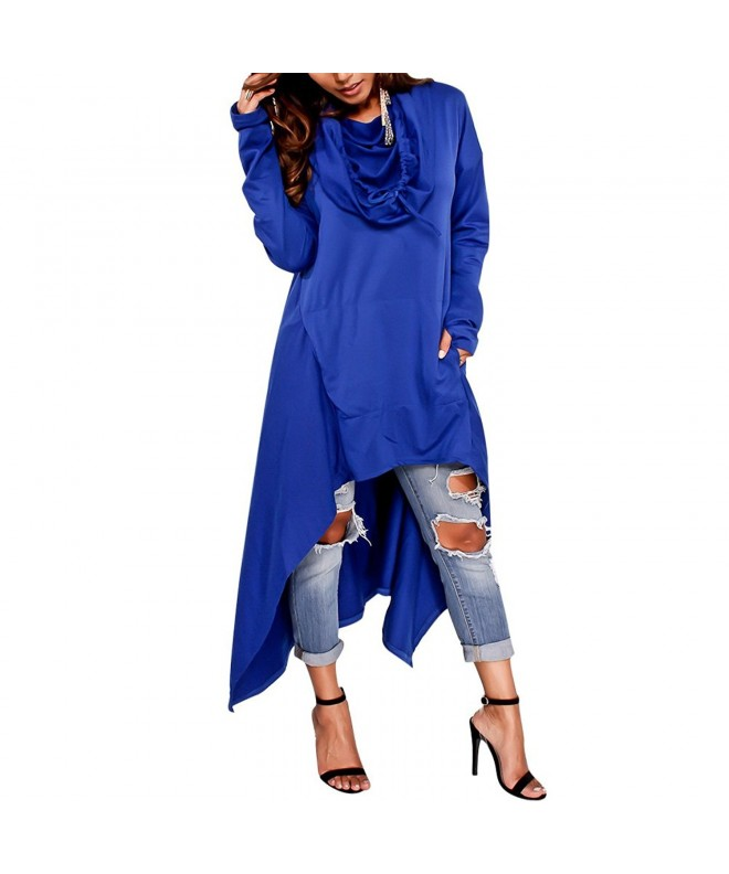 Womens Irregular Asymmetrical Sleeve Sweatshirt